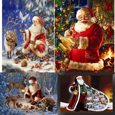DIY Diamond Painting Santa Claus Needlework Cross Stitch Embroidery Xmas GH