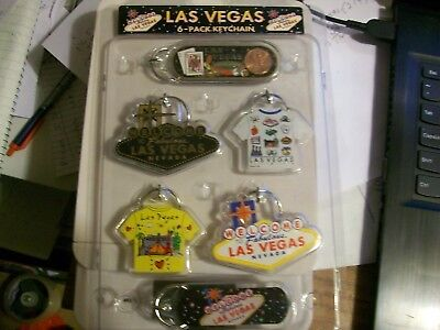 6 Las Vegas Keychains Vegas Sign T-Shirt Lucky Penny Party Favors Prizes Gifts