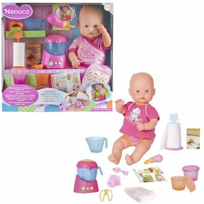 Nenuco Snack Time Doll Pink Lifelike Kids Children Play Toy Figure 700013300