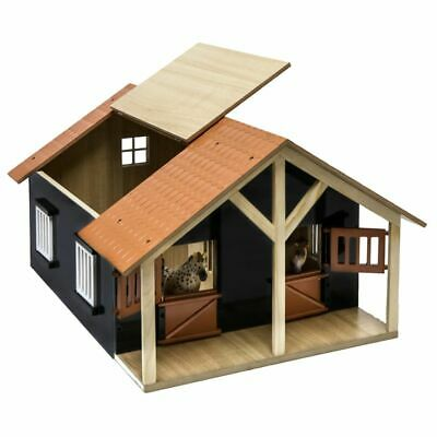 Kids Globe Farm Stables with 2 Boxes and 1 Workshop 1:24 Kids Playset 610167