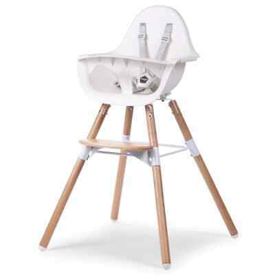 CHILDWOOD 2-in-1 Baby/Child/Toddler Feeding High Chair Evolu 2 White CHEVOCHNW