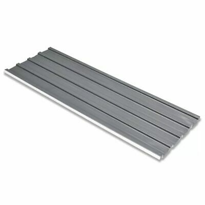 vidaXL 12 pcs Garage Shed Roofing Roof Eave Panels Covers Galvanised Steel Grey