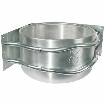 Kerbl Feed Bowl 18 L Aluminium Silver Poultry Pet Food Water Container 32496