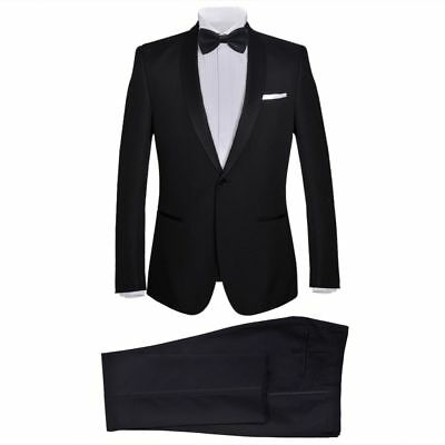 vidaXL Men's Two Piece Black Tie Dinner Suit/Smoking Tuxedo Black Multi Choice