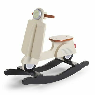 CHILDWOOD Kids Children's Rocking Scooter Toy Relaxing Beige and Black CWRSCR