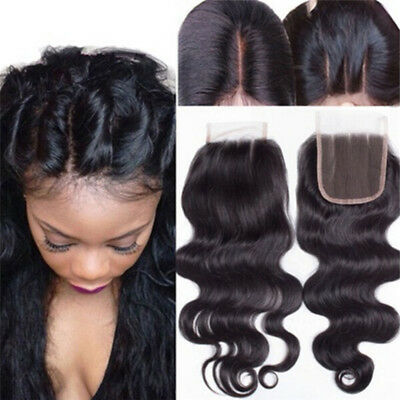 Wave Closure Hair Brazilian Lace Closure Middle Free Part Brazillian Closu RDNH