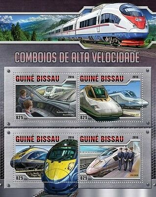 Z08 GB16307a GUINEA-BISSAU 2016 Speed trains MNH