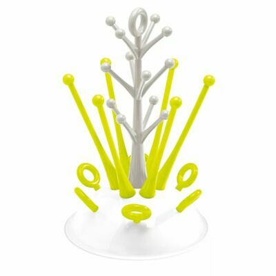 Beaba Bottle Draining Rack Neon Baby Toddler Drying Rack Drainer Stand Holder