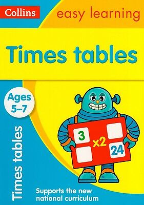 Collins Easy Learning Times Tables Ages 5-7 BRAND NEW BOOK (Paperback 2015)