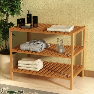 vidaXL Sink Storage Shelf Sideboard Rack Organiser Solid Walnut Wood 65x40x55 cm