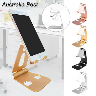 New Universal Folding Aluminum Tablet Mount Holder Stand For iPad iPhone Samsung