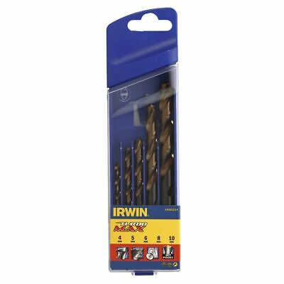 Irwin 5 HSS Turbomax Drill Bit Set 4/5/6/8/10 mm 10502234 Drilling Sheet Metal