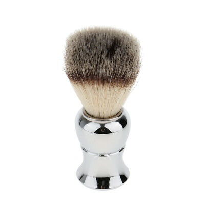 Comfortable Alloy Handle Men's Facial Hair Removal Beard Shaving Brush Tool