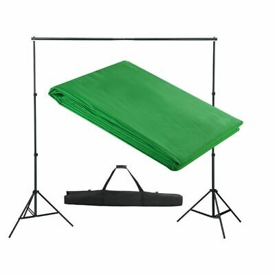 vidaXL Backdrop Support System 300x300cm Green Photography Studio Background