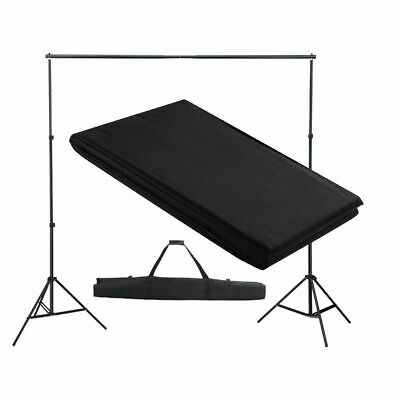 vidaXL Backdrop Support System 300x300cm Black Photography Studio Background