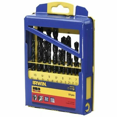 Irwin 19 HSS Pro Drill Bit Set 10502500 Drilling Plastic Metal Steel Cast Iron