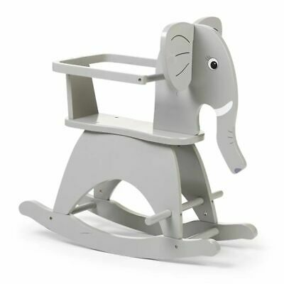 CHILDWOOD Kids Children's Rocking Elephant Toy Relaxing Playing Grey CWRELPH