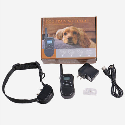 300M Remote Dog Training Shock Collar Rechargeable Adjustable Level Waterproof