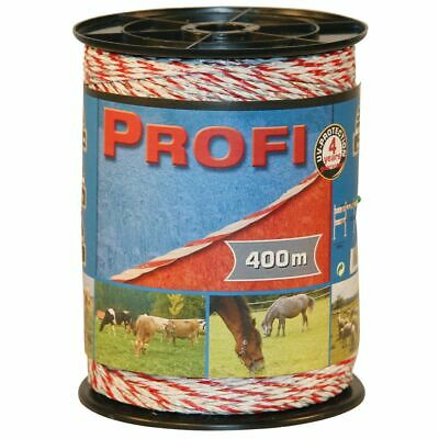 Kerbl Electric Fence Rope Profi PE 400 m Wire Cable String Cord Grazing 59506