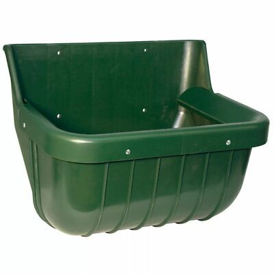 Kerbl Feed Bowl 15 L Plastic Green Feeder Waterer Food Water Container 32582