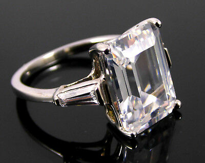 Large Solitaire With Accents Crystal Silver Ring. Uk Size P. Us 7.5 Was £20 (15)