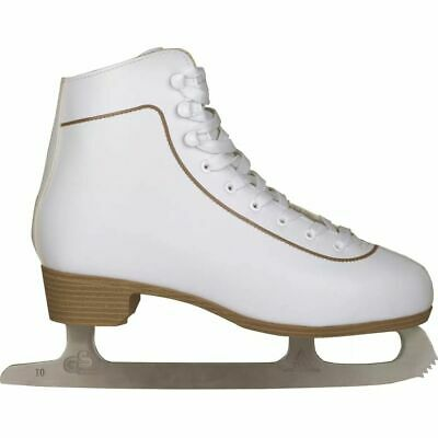 Nijdam Women's Figure Skates Classic Leather Size 36 Skating Boots 0043-WIT-36