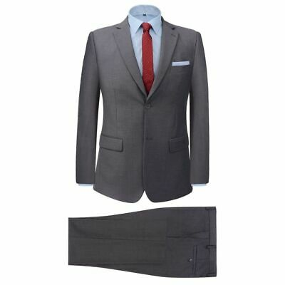vidaXL Men's 2 Piece Business Suit Grey Size 50 Wedding Formal Jacket Trousers