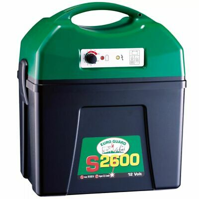 Kerbl Electric Fence Energiser Euro Guard S 2600 Rechargeable Battery 392260