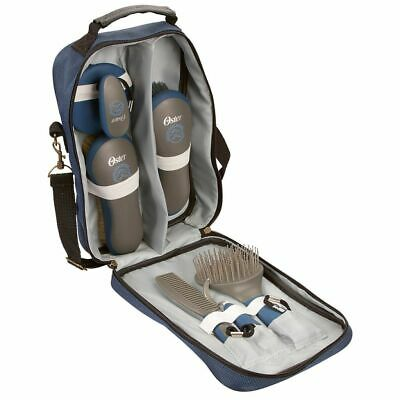 Oster 7 Piece Grooming Kit Blue Dog Cat Pet Hair Fur Clipper Shaver 32748