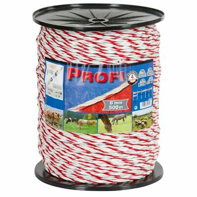 Kerbl Electric Fence Rope Profi PE 500 m Electric Wire Livestock Grazing 59510