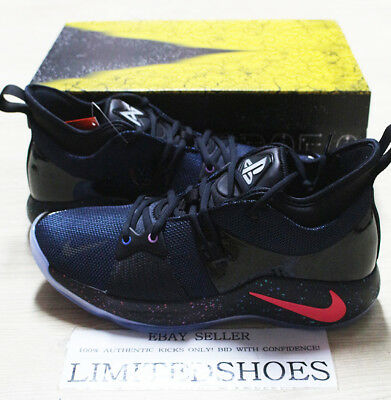 f14193dfbb03e2 NIKE PG 2 PLAYSTATION PS 4 BLACK RACER BLUE AT7815-002 Paul George Limited