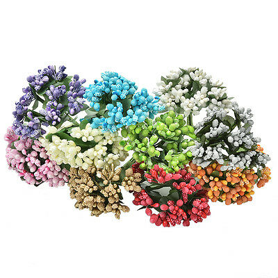 12x Artificial LLamen Bud Silk Flowers Bouquet Wedding Decor DIY Craft BoxRDNH