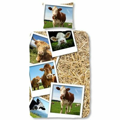 Good Morning Duvet Cover Quilt Cover with Pillowcase 5269-P COWS Multicolour