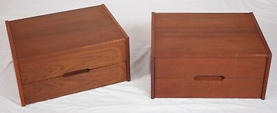 Modern Danish Design Mid Century - TEAK BEDSIDE TABLES by AKSEL KJERSGAARD