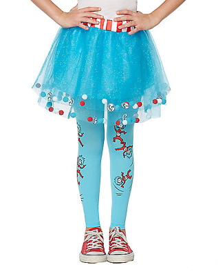 NEW Thing 1 and Thing 2 Tights Kids Dr Seuss The Cat in the Hat Tights for Girls