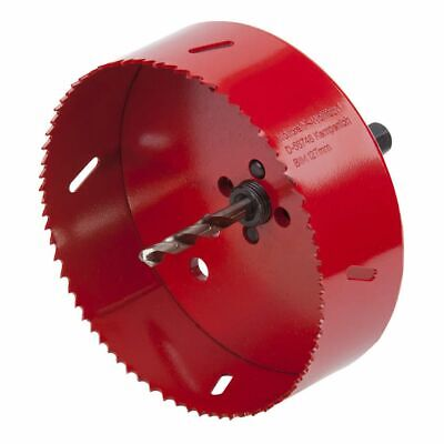 Wolfcraft Hole Saw 127 mm Red with Centring Drill Bit Drilling Tool 5495000