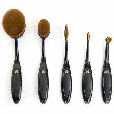 Rio Five Piece Make-up Cosmetic Brush Set Contour Eye Lip Shadow Oval BROM