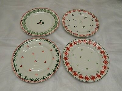 ❀ڿڰۣ❀ PORTMEIRION SOPHIE CONRAN Set of 4 CHRISTMAS SIDE PLATES