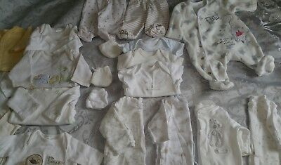 Tiny Baby / First size 0 size clothes Bundle unisex boys girls top sleep suits !