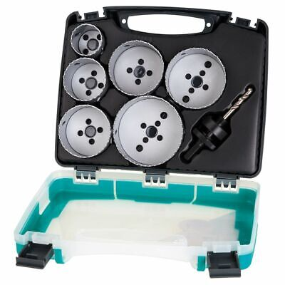 wolfcraft Seven Piece Hole Saw Set Electricity 40-86 mm Drilling Tool 5423000