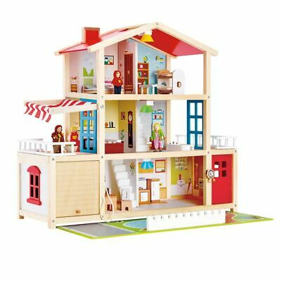 Hape Kids Children Baby Doll Family House Figure Toy Pretend Play Mansion E3405