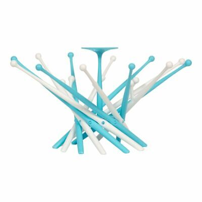 Bo Jungle B-Bottle Rack Holder Cleaning Organiser Flower Turquoise B500300