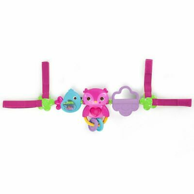 Bright Starts Musical Carrier Activity Toy Bar Mobile Busy Birdies Pink K52159