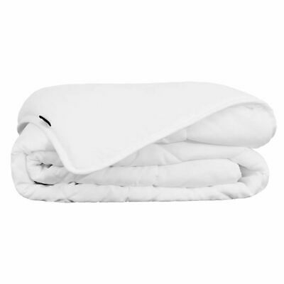 vidaXL Summer Bedroom Sleeping Bed Duvet/Quilt with Single Layer Fibre White