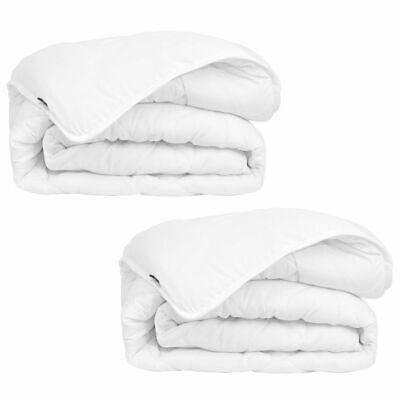 vidaXL 2 pcs Winter All Seasons Bedroom Sleeping Bed Duvet/Quilt Fibre White