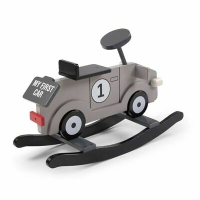 CHILDWOOD Kids Children's Rocking Car Toy My First Car Grey and Black CWRFCG