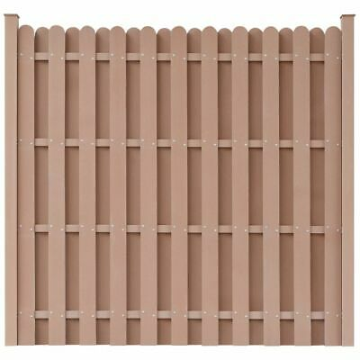 vidaXL WPC Fence Panel with 2 Posts 180x180cm Square Brown Enclosure Barrier