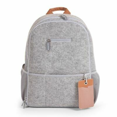 CHILDWOOD Baby Nursery Backpack Storage Nappy Mummy Bag Felt Light Grey CCFNBPG