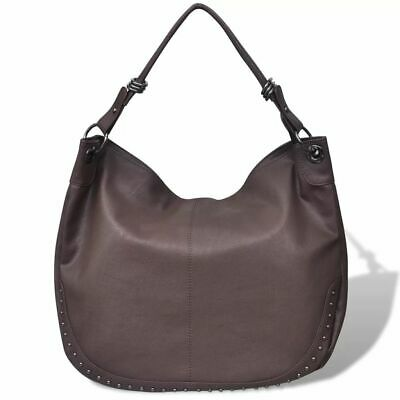 Dark Brown Large Purse Lady Women Artificial Leather Handbag Shoulder Bag