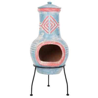 RedFire Fireplace Colima Clay Sea Blue/Red Heater Stove Warmer Outdoor 86031